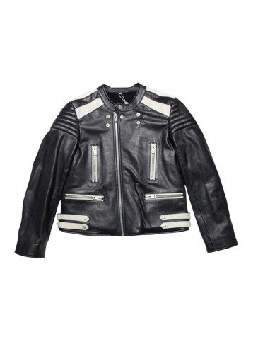Maison Margiela 短版機車皮夾克 NT$145,000