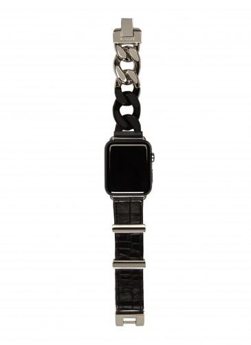 Sacai銀黑色Apple Watch錶帶_NT$19,800