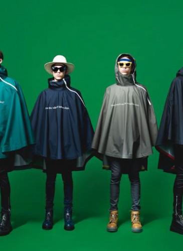 1.Undercover深藍色斗篷式風衣。-1