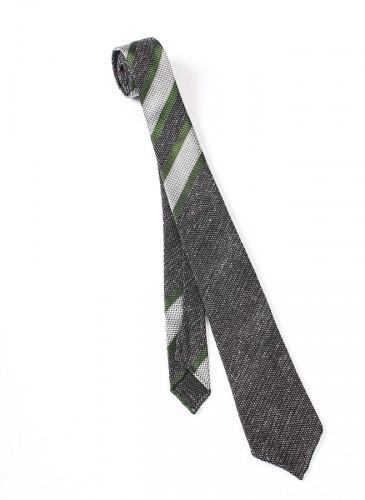 45R灰白綠斜紋拼色領帶,NT$13,580。