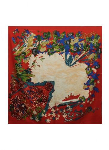 45R聖誕印花方巾,NT$3,280。-3