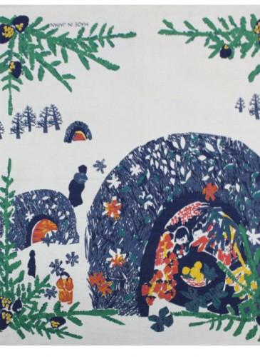 45R聖誕印花方巾,NT$3,280。-4