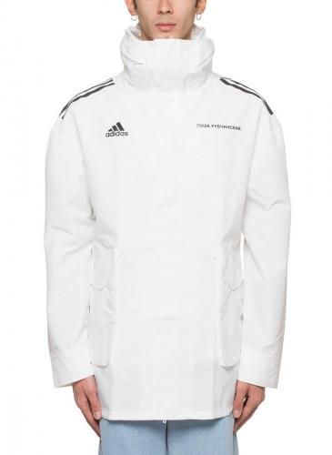 Gosha Rubchinskiy × adidas聯名白色防風外套,NT$10,500。(團團精品)