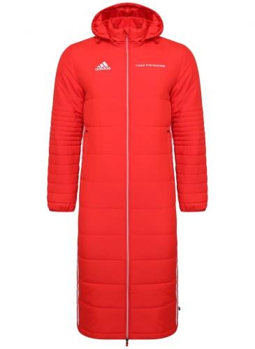 Gosha Rubchinskiy × adidas聯名紅色長版大衣外套,NT$14,500。(團團精品)