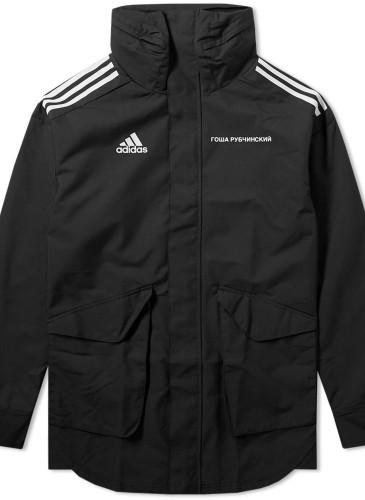 Gosha Rubchinskiy × adidas聯名黑色防風外套,NT$10,500。(團團精品)