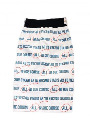 Sacai語言符號印刷窄裙,NT$52,800。(團團精品)