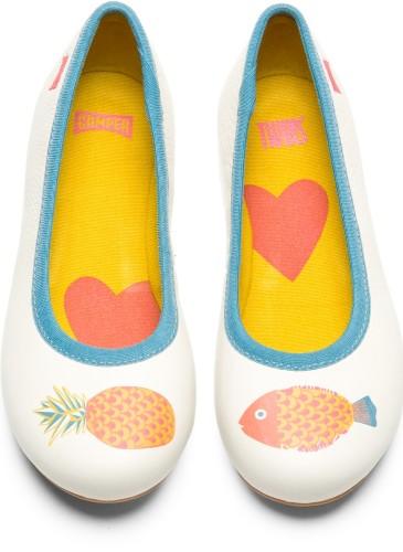 CAMPER TWINS系列白色印花休閒童鞋,NT$4,180。_正面