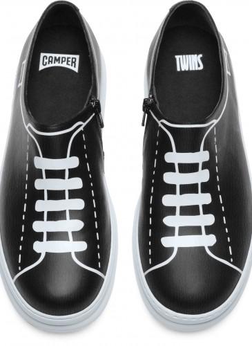 CAMPER TWINS系列黑白配色休閒鞋,NT$7,680。(男款)_正面