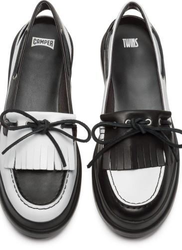 CAMPER TWINS系列黑白配色裝飾流蘇休閒鞋,NT$8,280。(女款)_正面
