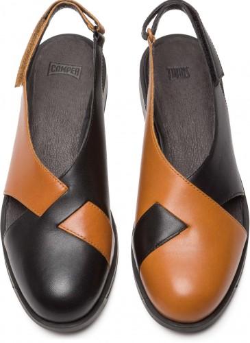 CAMPER TWINS系列黑駝配色休閒鞋,NT$7,280。(女款)_正面