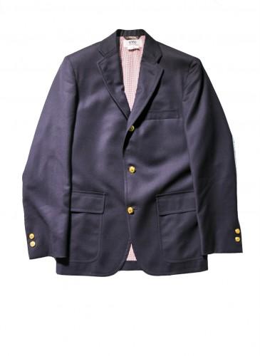 Junya Watanabe Man 2018春夏深藍色金扣獵裝外套,NT$54,500。(團團精品)
