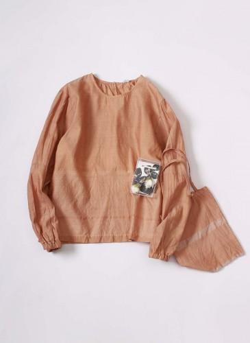 45R 2018春季歲時記「三葉草」裝飾罩衫, NT$25,880。