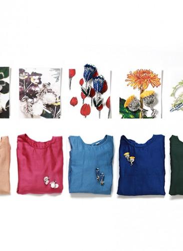 45R 2018春季歲時記花草裝飾罩衫,各NT$25,880。-1