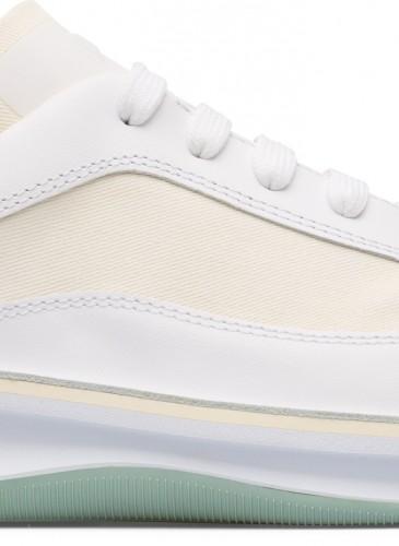Camper Rolling系列黃綠白色異材質拼接休閒鞋,NT$8,580。(男女鞋)