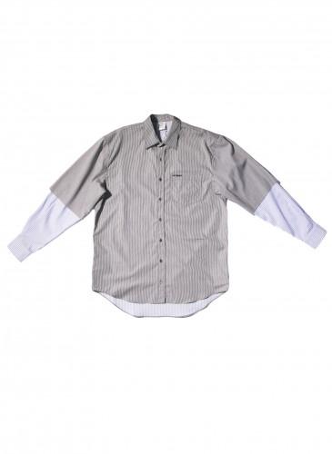 VETEMENTS條紋拼接襯衫,NT$40,800。(團團TEEMARKET)_正面