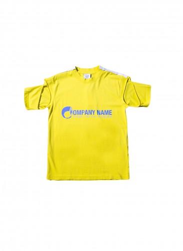 VETEMENTS鮮黃色特殊袖設計T恤,NT$19,200。(團團TEEMARKET)