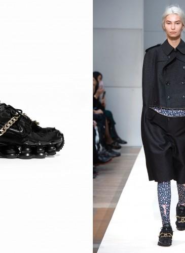 Comme des Garçons x Nike Shox彈簧鞋,男女款皆有,即日起於團團敦南店獨家限定販售。