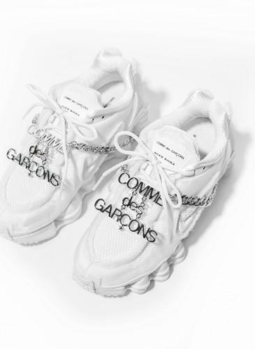 Comme des Garçons x Nike Shox白色彈簧鞋,NT$18,200。(團團)-3