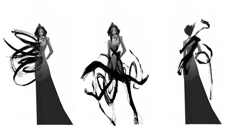 讀衣IV參與服裝設計師設計圖稿 - 汪俐伶