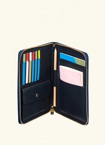 LUNIFORM N°27 深藍色拉鍊皮夾NT$25,000-2