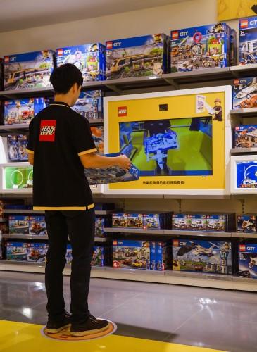 台灣首間樂高授權專賣店擁有獨家服務設施『樂高AR互動盒』