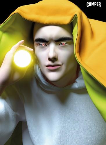 CAMPER 2020春夏的首個故事,選擇霓虹燈流行色的爆炸!提供了多種時尚和運動風格,並與西班牙數位藝術家Claudia Maté合作,製作了一系列超現實的3D角色宣傳形象。-3