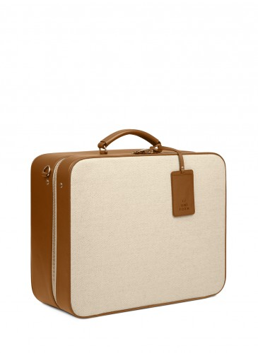 LUNIFORM N°40 CARRY ON SUIT CASE焦糖配色行李箱,NT$138,000。