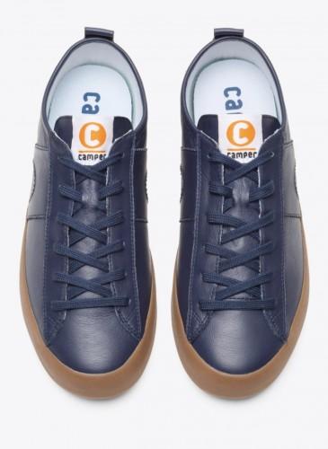 CAMPER Imar Copa深藍配咖啡色底休閒鞋,NT$5,580。(男鞋)