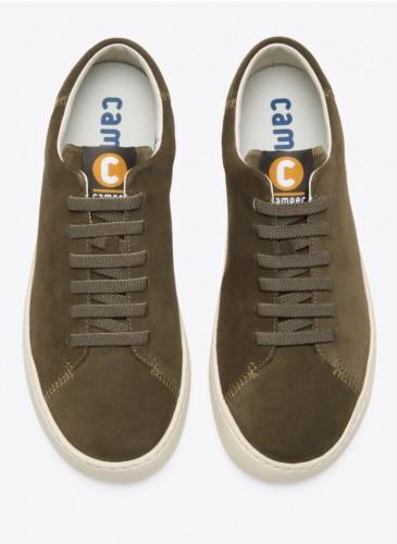 CAMPER Peu Touring墨綠色麂皮休閒鞋,NT$5,580。(男鞋)