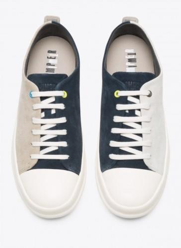 CAMPER Twins米+深藍拼色休閒鞋,NT$5,780。(男鞋)