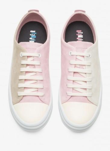 CAMPER Twins米+粉紅拼色休閒鞋,NT$5,780。(女鞋)