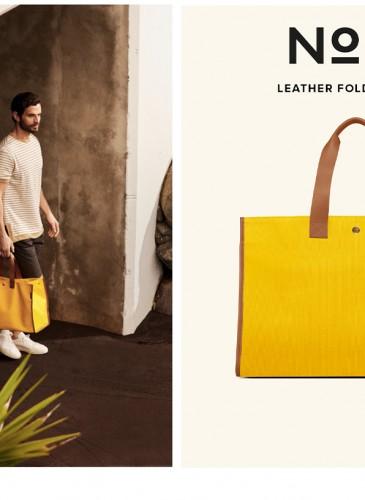 LUNIFORM N°72 FOLDABLE BAG黃棕配色可折疊袋,NT$ 19,800。