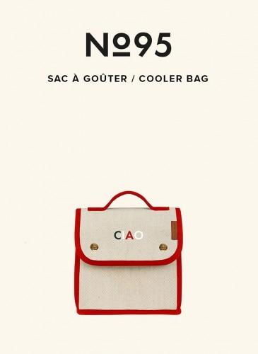 LUNIFORM N°95米紅配色保冷袋,NT$ 14,000。
