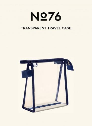 LUNIFORM No°76深藍配色透明旅行袋,NT$8,800。