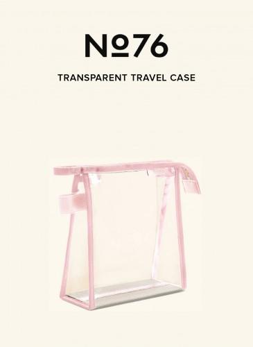 LUNIFORM No°76粉紅配色透明旅行袋,NT$8,800。
