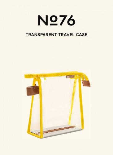 LUNIFORM No°76鮮黃配色透明旅行袋,NT$8,800。-1