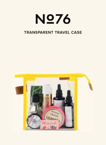 LUNIFORM No°76鮮黃配色透明旅行袋,NT$8,800。-2