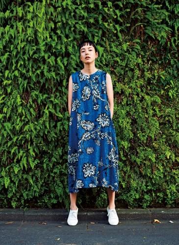 45R腰果花圖案系列藍色洋裝,NT$37,200。(形象圖)