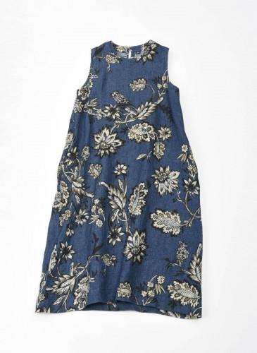 45R腰果花圖案系列藍色洋裝,NT$37,200。