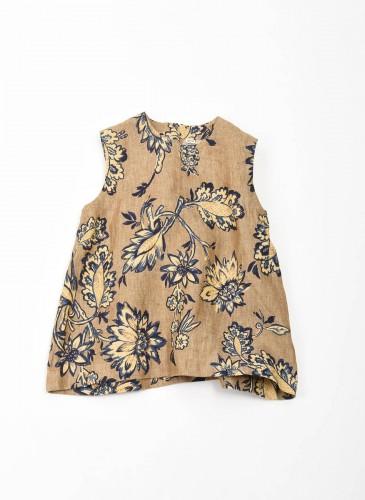 45R腰果花圖案系列駝色無袖背心,NT$25,200。
