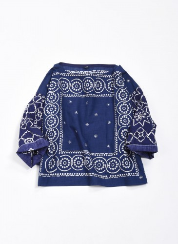 45R頭巾布花紋上衣,NT$15,500。-1