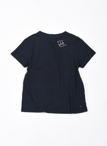 45R INDIGO藍染印圖騰上衣,NT$8,500。