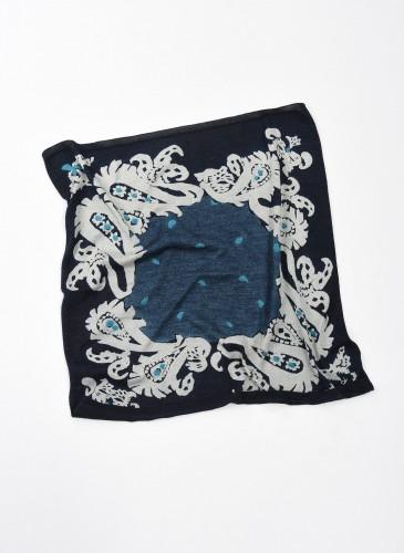 45R INDIGO藍染印花方巾,NT$5,500。-7