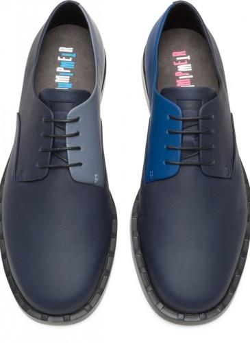 CAMPER Judd Twins深藍拼淺藍休閒皮鞋,NT$7,680。(男鞋)