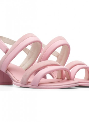 CAMPER Katie Sandal系列粉紅色低跟涼鞋,NT$6,680。-2