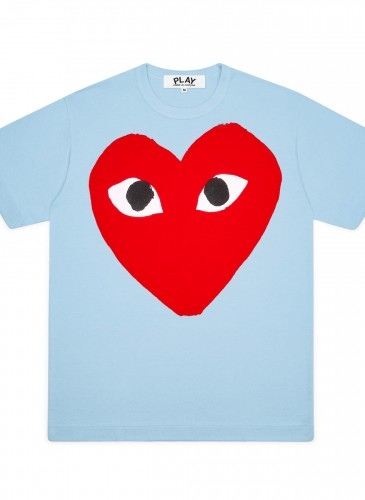Comme des Garçons Play大眼愛心天藍色T恤,價格店洽。(團團選品)