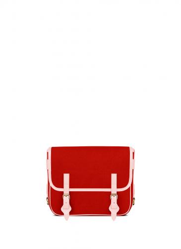 LUNIFORM No°43紅色+粉紅色側背包,NT$28,000。(正面)