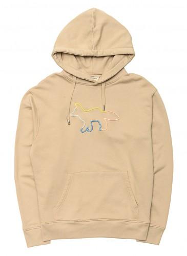 MAISON KITSUNE經典狐狸刺繡長袖帽Tee,NT$10,500。(團團選品)