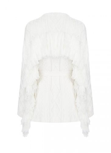 Mother of Pearl米白色針織外套(背面) ,NT$27,500。(團團選品)