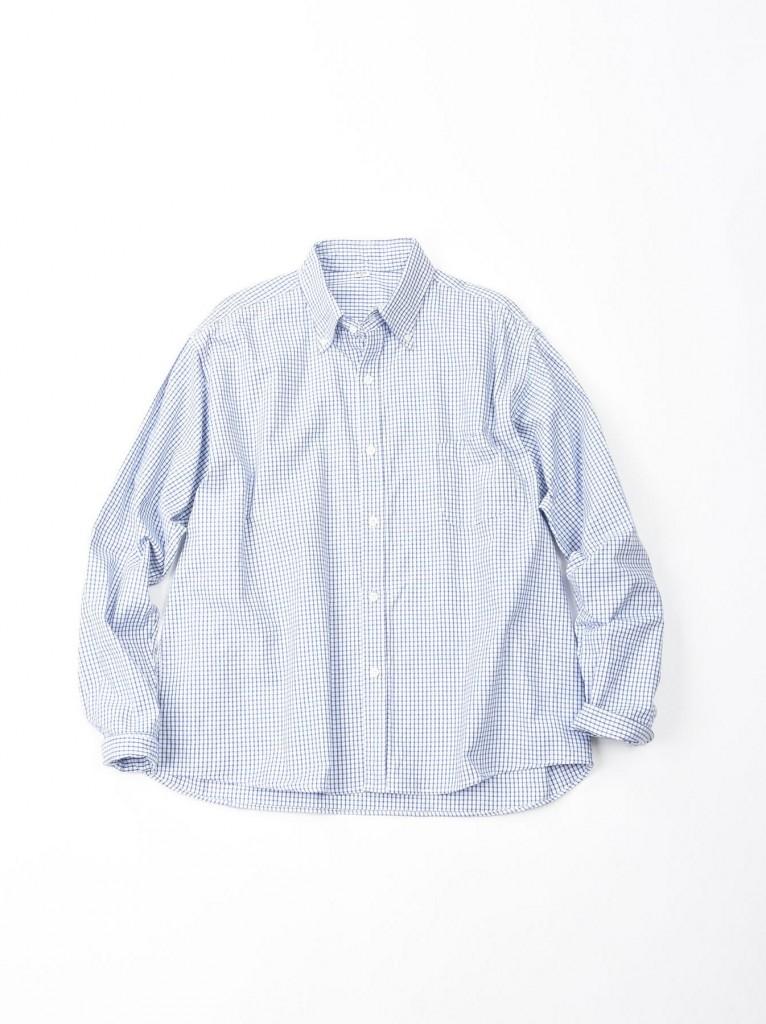 45R水藍色格紋襯衫,NT$15,800。